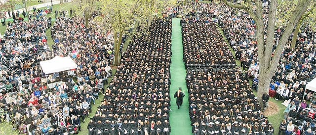Carroll University commencement ceremony crowd photo