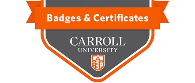 badges and certificates