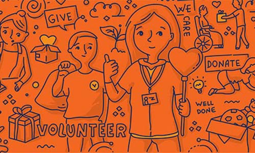 volunteering illustration