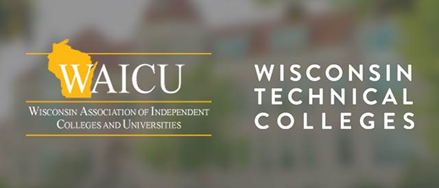 WAICU and Wisconsin Technical Colleges logos