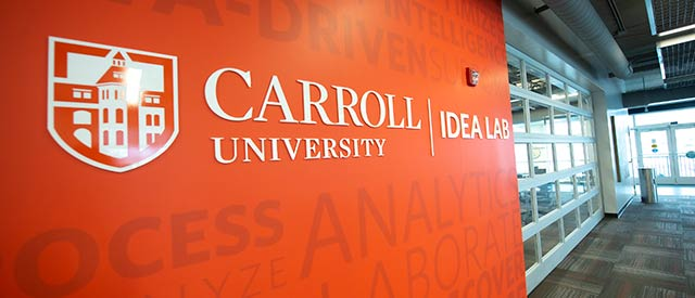 interior of the carroll university idea lab