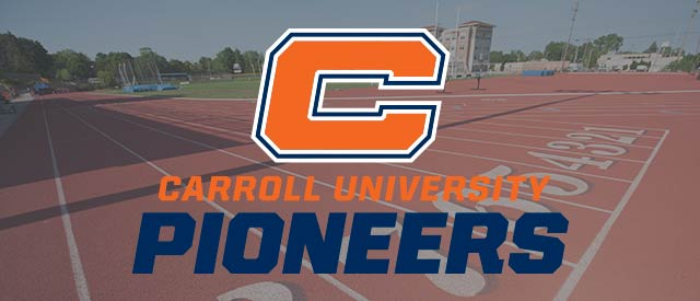 Carroll C logo overlayed on track photo.
