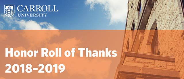 Honor Roll of Thanks Cover