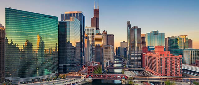 Picture of downtown Chicago, Illinois