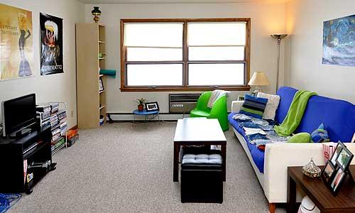 Living Room Carroll Street Apartment Kitchen