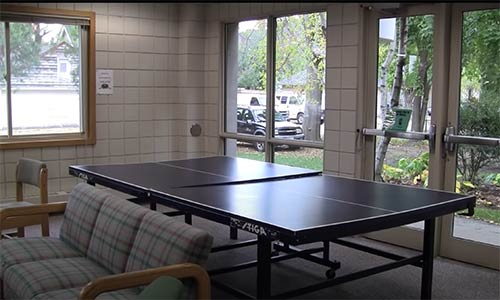 Hilger Hall game room