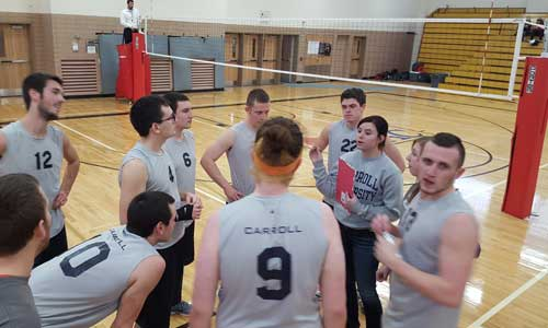 members of the men's club volleyball team
