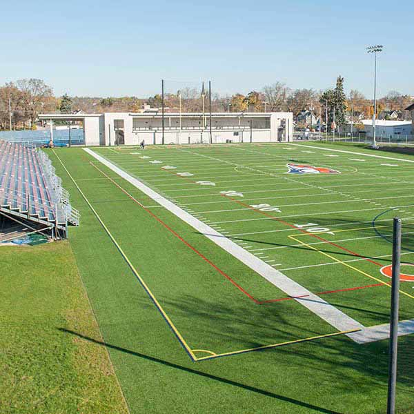 Photo of Schneider Stadium in the fall