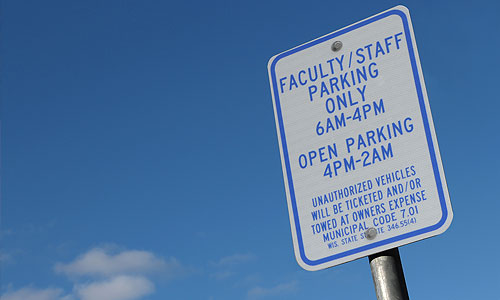 regulation parking sign