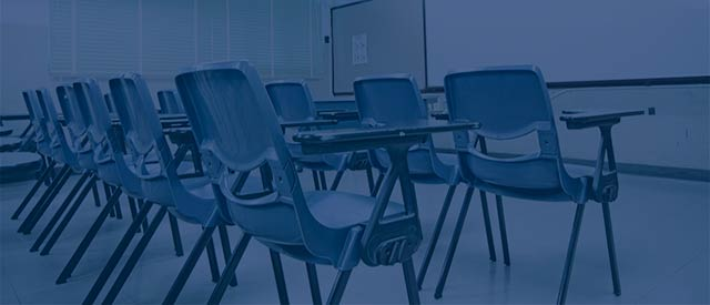 chairs in a classroom