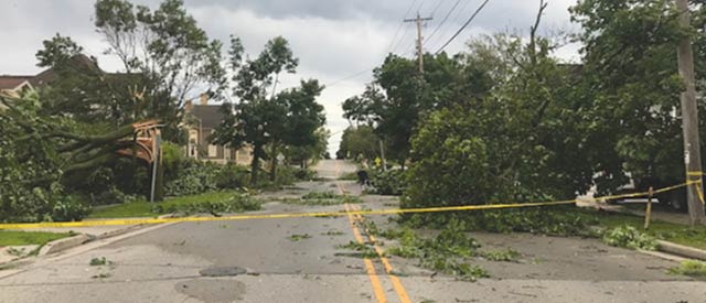 June 27 storm damage