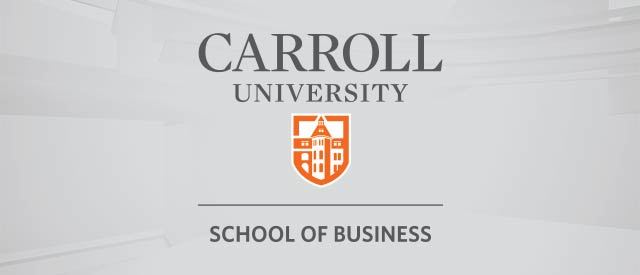 Carroll University School of Business Logo