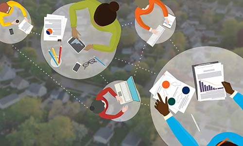 connected students illustration