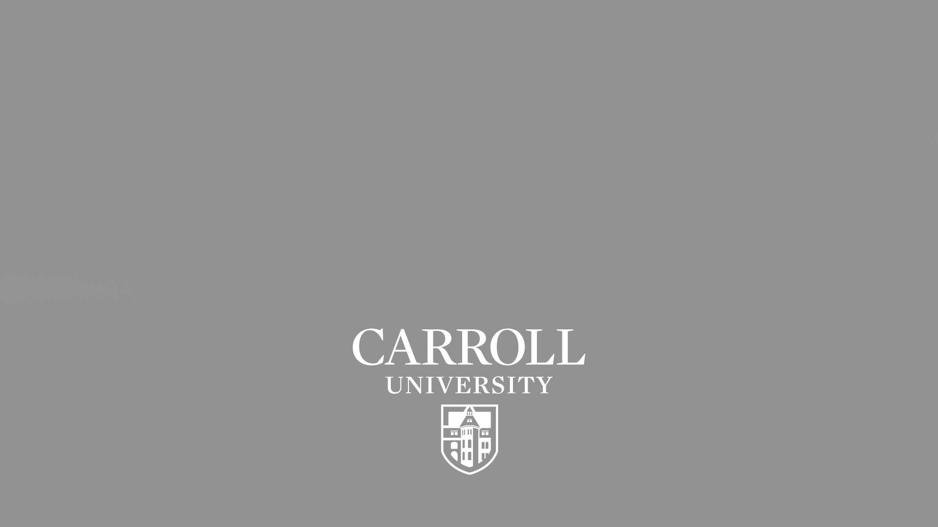 Carroll University logo with gray background