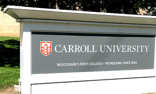 Carroll University sign